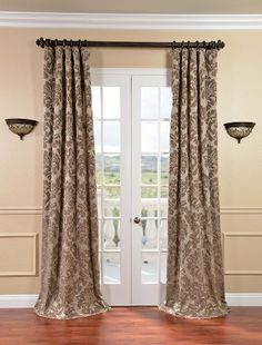 French Door Curtain | Pottery Barn   Home Furnishings, Home Decor | Home  Decoration | Pinterest | Door Window Treatments, French Door Curtains And  Door ...  Curtains For French Doors