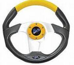 "shopcardinal.com MadJax 13"" Transformer Golf Cart Steering Wheel MJTRANSFORMERY Yellow NIB CLEARANCE, $83.50 (http://www.cardinalsellingservices.com/madjax-13-transformer-golf-cart-steering-wheel-mjtransformery-yellow-nib-clearance/)"