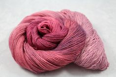 """""""Rose? Where We're Going, We Don't Need... Rose"""" READY TO SHIP Single Ply Luxury Silk Fingering Yarn   by Groovy Hues Fibers    #groovyhuesfibers #groovyhues #etsy #rose #pink #silk #luxury #handpainted #valentines #valentinesday #love #girly #feminine #pun #backtothefuture #quote #variegated #sock #socks #yarn #knitting #knit #crocheting #crochet #wool #crafts #artsandcrafts #diy #handmade #indiedyer #indiedyed #handdyed #shawl #winter #warm #sheep #hat #scarf #mittens #pretty #lace"""
