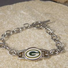 Green Bay Packer Shoe Charm Bracelet by WireNWhimsy on Etsy