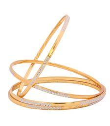 Black friday deals and offers mirraw Buy Designer Gold Plated Bangles bangles-and-bracelet online Gold Bangles Design, Gold Earrings Designs, Gold Jewellery Design, Gold Rings Jewelry, Gold Jewelry Simple, Bangle Set, Bangle Bracelets, Gold Plated Bangles, Bridal Bangles