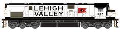 Lehigh Valley Railroad Snowbird HO Alco C628 Diesel Locomotive.