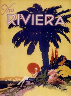 1930s travel poster for the Italian Riviera. #essenzadiriviera.com www.varaldocosmetica.it/en