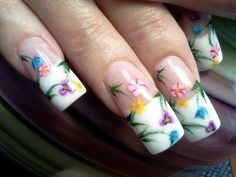 Spring flowers - Nail Art Gallery by www.nailsmag.com #nailart