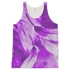 Frosted Purple Angel Dreams Airbrush Art All-Over Print Tank Top
