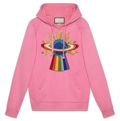 13fe92b329c Indie Designs UFO Embroidered Hooded Sweatshirt Gucci Sweatshirt, Sweatshirt  Dress, Gucci Fall 2017,
