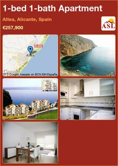 1-bed 1-bath Apartment in Altea, Alicante, Spain ►€257,900 #PropertyForSaleInSpain