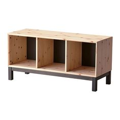 IKEA - NORNÄS, Bench with storage compartments, Made of solid wood, which is a durable and warm natural material.Optimise your storage with BRANÄS or DRÖNA boxes.