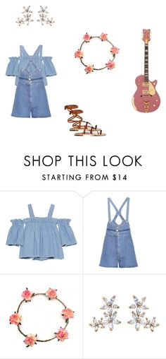 """""""Bonheur Jewelry Festival Style"""" by bonheurjewelry on Polyvore featuring SJYP, Valentino and Manolo Blahnik"""