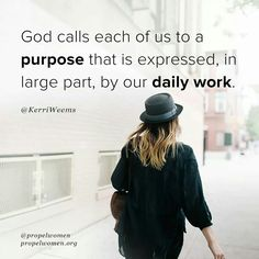Purpose allows us to respond to the call over our lives and is the driving force behind what we've been prepared in advance to do.