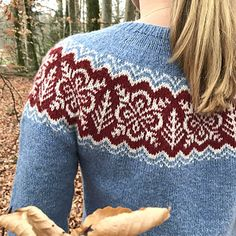 Silver Forest is a lightweight circular yoke sweater with a relaxed comfortable Yarn Needle, Needle And Thread, Knitting Patterns, Crochet Patterns, Crochet Wool, Fair Isle Pattern, Sewing Stitches, Knitting Yarn, Knitting Projects