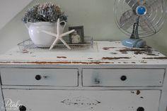 *PinkPostcard.*- Milk paint vintage dresser