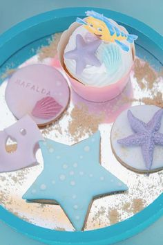 Take a look at this gorgeous Little Mermaid birthday party! The cookies are so pretty! See more party ideas and share yours at CatchMyParty.com