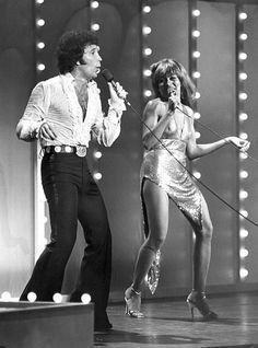 Tom Jones and Tina Turner, 1978.