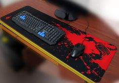 Amazon.com : Sean XXL Professional Large Mouse Pat & Computer Game Mouse Mat (35.43''W x 11.81H x 0.12TH) (Black&Red) : Office Products