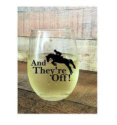 Kentucky derby  Horse Racing Wine Glass  Kentucky Derby Wine