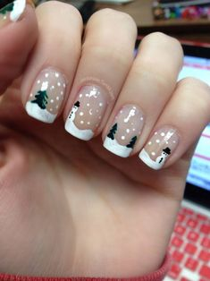 Who doesn't love properly manicured and well-groomed christmas nails. Ensuring you get as creative with your christmas nails as you are with your clothes is the industry of christmas nail art designs. Nail Art Noel, Xmas Nail Art, Cute Christmas Nails, Holiday Nail Art, Xmas Nails, Christmas Nail Art Designs, Winter Nail Designs, Christmas Trees, Christmas Manicure