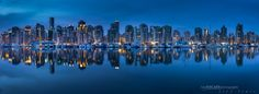 Simple pano of the beautiful Vancouver skyline.