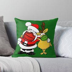 #pillow #throwpillow #funnypillow #maskedSantapillow #maskeddeerpillow #reindeer #Santaclaus #Santatshowerpillow #deer #deerspillow #redbubble #sandyspider #findyourthing #honedecor #Christmas #Christmaspillow
