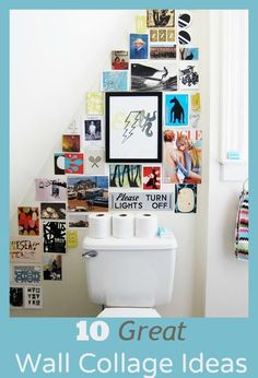 10 Best Wall Collage Ideas - I really like the corner one