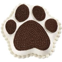 Paw Prints Nfsc With Royal Icing Cream Colored For The