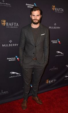 Fifty Shades of Grey star Jamie Dornan has won over the fashion pack with his effortlessly cool outfits. Fifty Shades Trilogy, Fifty Shades Of Grey, 50 Shades, Jaguar, Tea Party Pictures, Most Stylish Men, Jaime Dornan, Thing 1, Hottest Male Celebrities