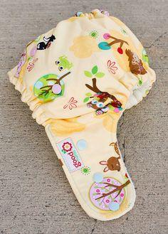 cute pattern on a cloth diaper