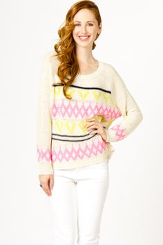 Neon Accent Pullover