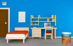 Vinimex es la pintura perfecta para el cuarto de los niños. Cuenta con un bello acabado satinado, es altamente lavable y además, tiene excelente durabilidad.  #ProductosComex #Ideas #Lavable #Niños #Colorful