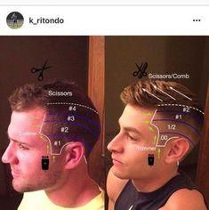 Best haircut tutorial step by step mens ideas - Haircut Ideas Boys Fade Haircut, Diy Haircut, How To Fade Haircut, Mens Haircut Back, Cool Haircuts, Haircuts For Men, Boy Haircuts Short, Barber Haircuts, Men's Haircuts
