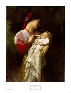 Mother and Child Art Print by William Adolphe Bouguereau at Art.com