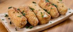 Patrick's Day food Cheddar croquettes from Ballymaloe Cookery School Dutch Recipes, Irish Recipes, Snacks, Snack Recipes, Ballymaloe Cookery School, Bulgarian Recipes, Appetisers, Food Cravings, Vegetable Recipes