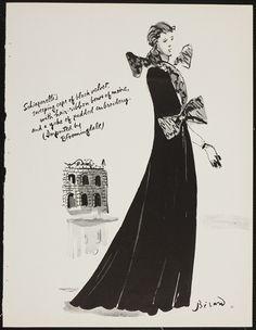 Schiaparelli Ilustration by Bérard, 1935