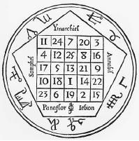 Resultado de imagen para Cornelius Agrippa's magical square Cornelius Agrippa, Magic Squares, Magic Symbols, Ange Demon, Principles Of Art, Sacred Art, Illuminated Manuscript, Numerology, The Conjuring