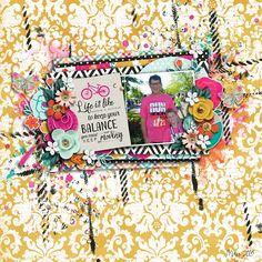 digital scrapbook layout using everyday: balance by lauren grier + jenn barrette | everyday: balance journal cards by lauren grier + jenn barrette