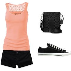You can never go wrong with a tank top and converse :S