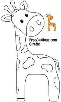 Giraffe Quilt Block, Giraffe for Applique Pattern, Template Baby Applique, Elephant Applique, Applique Quilts, Baby Elephant, Baby Quilt Patterns, Embroidery Patterns, Free Applique Patterns, Quilting Patterns, Hand Embroidery