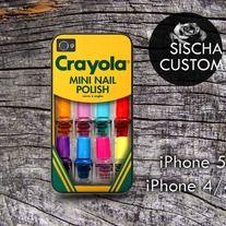 Crayola Mini Nail Polish - iPhone Case 4/4s/or 5. Samsung Galaxy s3/s4
