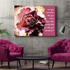 BEAUTIFUL ELEGANT 'PINK ROSE' CANVAS ART Inspirational Quotes combined with Flower Art is unbeatable for wall art!  This 'Pink Rose' canvas is a beautiful image to hang in any living area and especially in bedrooms.  In the language of flowers, the pink rose symbolizes gratitude and appreciation. Their pure color expresses gentleness and admiration. Ships to the USA & Canada ONLY. Printed in Colorado US Stretched Canvas Prints, Canvas Art Prints, Beautiful Images, Beautiful Flowers, Gentleness, Language Of Flowers, Living Area, Flower Art, Gratitude