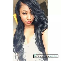 "@Thediajabee looking stunning in her Brazilian Straight lengths 26"" 26"" 28"". #MayvennMonday #MayvennHair #Inches #VirginHair #MayvennMade www.tiffanymoore.mayvenn.com"