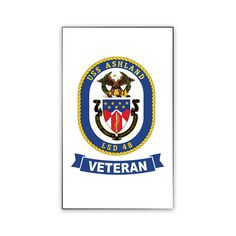 USS Ashland Veteran Magnet now available! Show your Navy Service pride on your refrigerator, car, file cabinet and other metallic surfaces! This custom magnet is 3 inches tall and 2 inches wide. Designed, Printed & Sublimated in the USA!