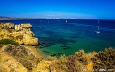 Lagos view of cliff coastline, Portugal. Portugal Highlights for a 2 Week Itinerary.