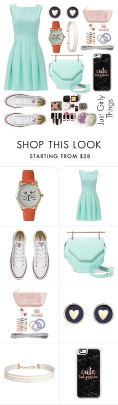 """""""Just Girly Things"""" by pizzalover1402 ❤ liked on Polyvore featuring Olivia Pratt, Kate Spade, Converse, M2Malletier, L. Erickson, Brooks Brothers, Humble Chic and Casetify"""