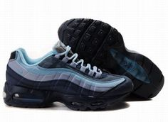 new product 4ee95 8a3a2 Homme Baskets Nike Air Max 95 Bleu Noir DSG533 Air Max 90, Air Max 95
