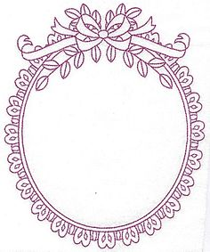 Oval frame with bow 108 large