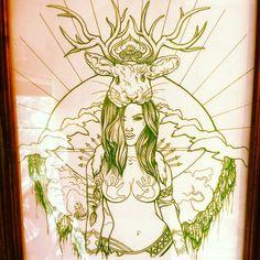 Artwork done by tattoo artist Cieara Elizabeth Kendall