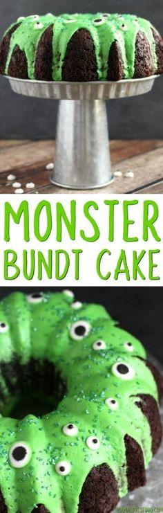 Easy Monster Bundt Cake Recipe