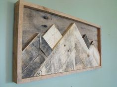 Mountainscape Mountains reclaimed pallet wood wooden sign