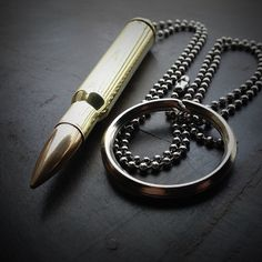 Bullet Jewelry by JECTZ® - .30-06 Brass Bullet Necklace, $14.95 (http://www.jectz.com/30-06-brass-bullet-necklace/)