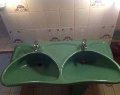 Luigi Colani - Villeroy Boch vintage bathroom suite Luigi, Colani, Modern Baths, Branding, Villeroy, Bathroom Design Small, White Rooms, Shower Heads, Milk Glass